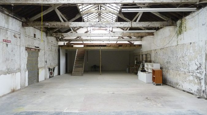 2500 sq ft ground floor live work style warehouse unit in Clapton Tram Depot, Clapton E5