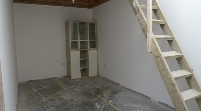 Artist studio / mezzanine style studio available to rent in converted warehouse in Seven Sisters N15