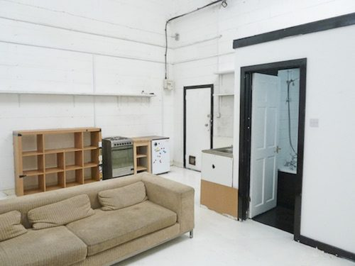 Live work unit to rent in converted Victorian warehouse, 650 sq ft with mezzanine floor, 2 rooms and large open area in Hackney Wick E3