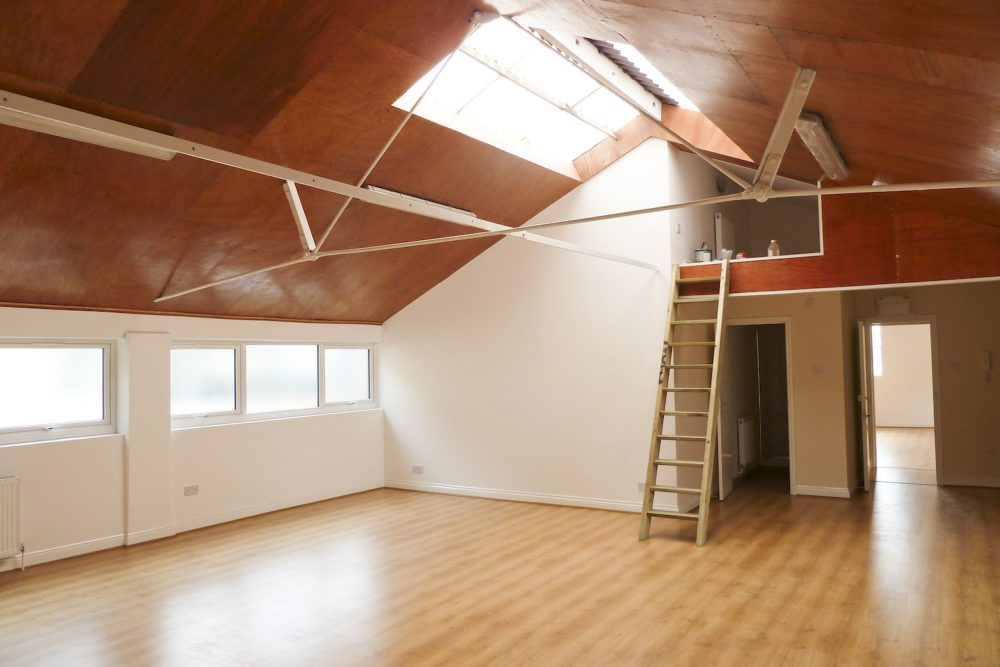 700 sq ft first floor live work style warehouse conversion in SE23