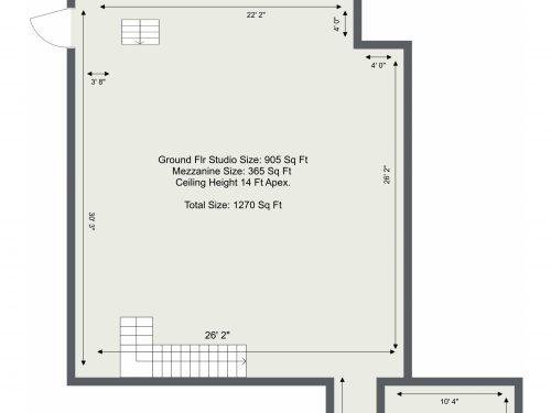 E3 Autumn Street Photography Studio – Ground Floor – Floor Plan