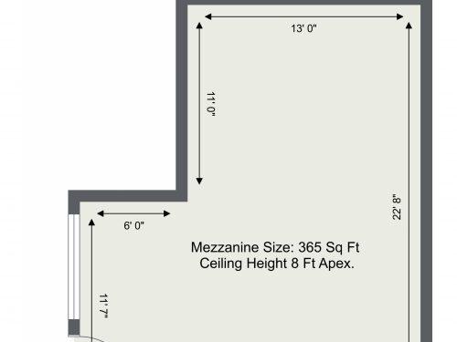 E3 Autumn Street Photography Studio – Mezzanine Floor – Floor Plan