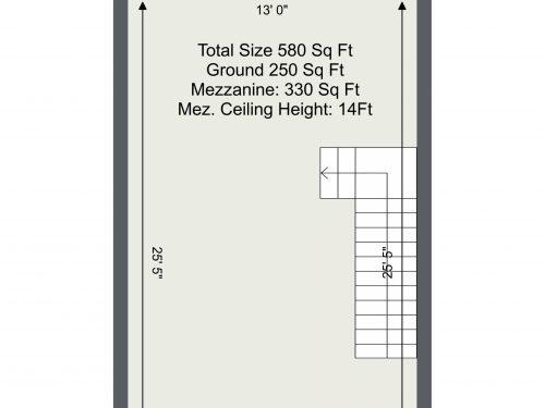 N17 Mill Mead UNit 11 – Mezzanine Floor Plan