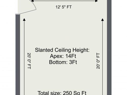 Markfield Road Mezzanine 2 – 1. Floor – 2D Floor Plan