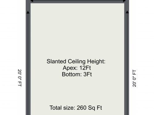 Markfield Road Mezzanine 3 – 1. Floor – 2D Floor Plan