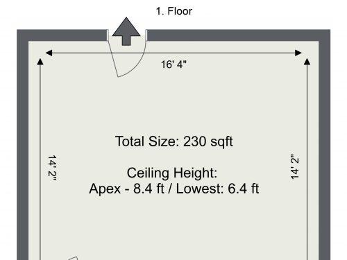 N15 Constable Crescent Studio Floor Plan
