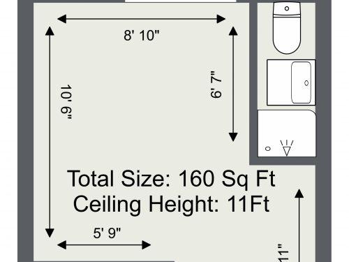 E3 Wick Lane Studios 160 Sq Ft Floor Plan