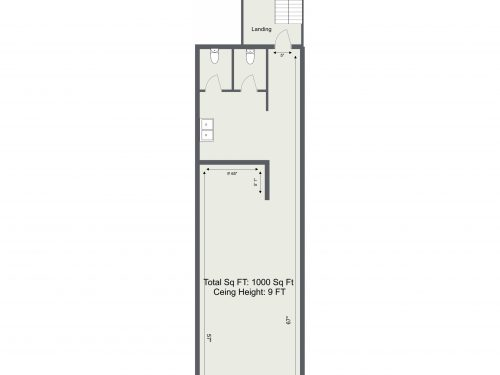 E8 Kingsland Rd Basement – 1000 Sq FT – Floor Plan