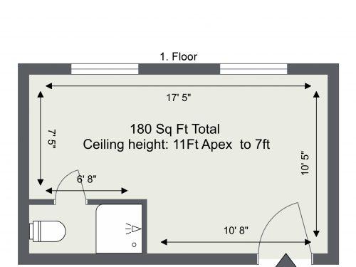 Floorplan – E3 Wick Lane, Hackney Wick Studio