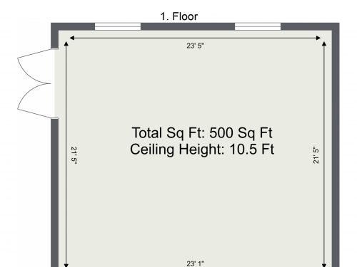 N16 Greenhouse 500 sq ft – Ground Floor Floor Plan