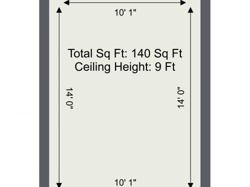 N16 Greenhouse studio – 140 sq ft Floor Plan