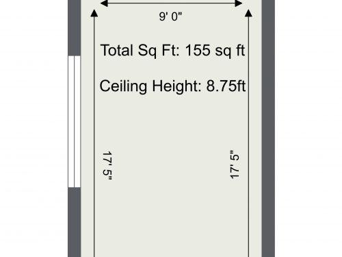 N16 Newington Green Green House Studio Q – Floor Plan