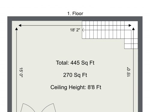 E8 Kingsland – 1st Floor Plan
