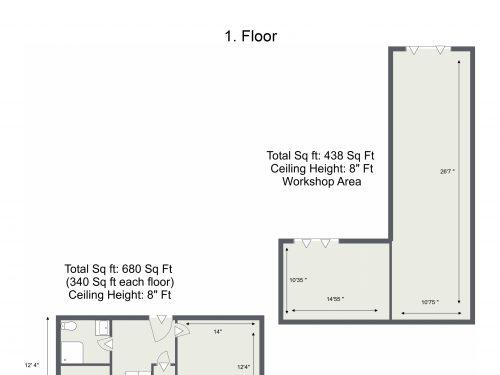 E15 Evesham Rd – 1. Floor – Floor Plan