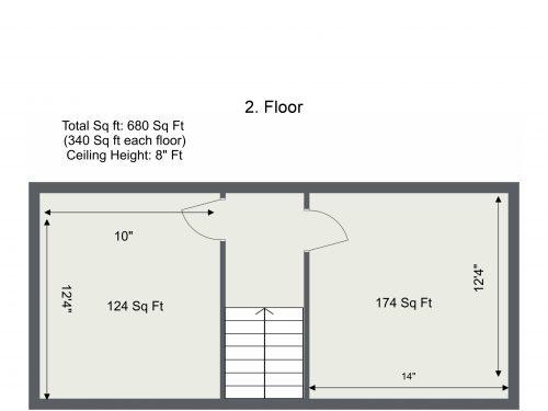 E15 Evesham Rd – 2. Floor – Floor Plan