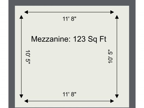 N16 SHelford Unit 62 – Mez Floor Plan