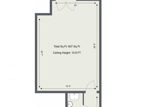 E9 Hackney Belsham Street Studio 2 – Floor Plan