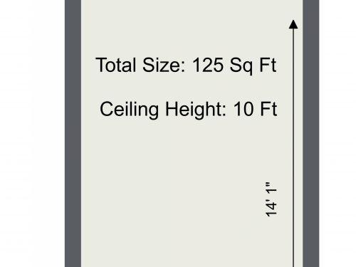 N15 Markfield Bones And Pearls Studio B – 2D Floor Plan