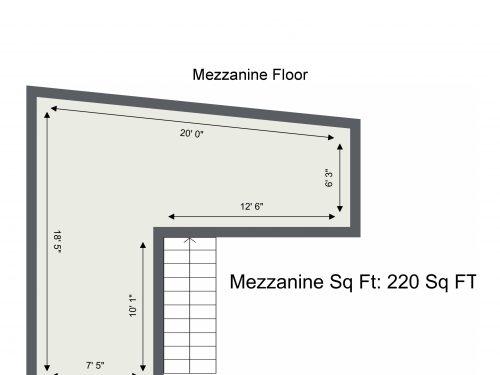 E9 Homerton Mackintosh Lane – Mezzanine Floor – Floor Plan