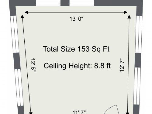 N16 Newington Green Studio C – Floor Plan