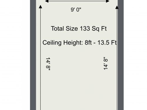N16 Newington Green Studio S – Floor Plan
