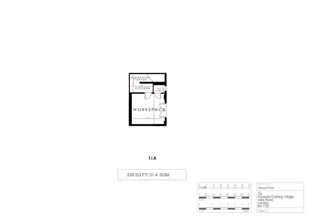 Tia Cottage N4 Floor Plan